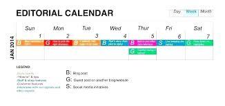 Social Media Planning Calendar Template
