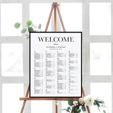 Etsy Wedding Seating Chart Alphabetical Alphabetical Seating Chart Posters Wedding Seating Chart Alphabetical Minimalist Modern Black Border Alphabetical Seating Chart Poster