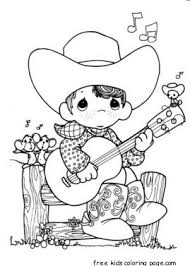 Small Picture Precious Moments boy playing guitar cowboy coloring pagesFree