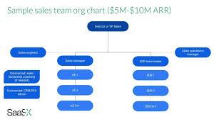 A Saas Startup Sales Team Org Chart Example Saasx