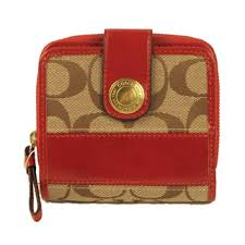Coach Signature Stripe Medium Zip Around Wallet  41622