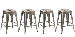 distressed metal bar stools. interesting stools btexpertu0026174 24inch industrial vintage antique style distressed metal  brush modern dining counter bar stool  set of 4 barstool walmartcom for stools