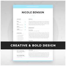 Creative Resume Template Modern Cv Design For Word Instant Download Marketing Designer Startup Graduate 1 2 Page Resume Nicole