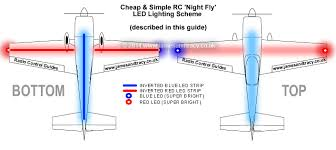 how to setup your rc plane for night flying a simple led simple and cheap led scheme for rc night flying