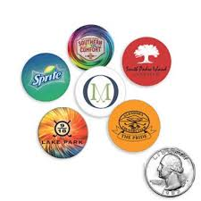 ball markers. quarter size plastic golf ball markers b