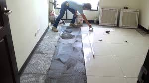 Kitchen Floor Installation Floor Tile Installation Polished Porcelain 60x60cm Youtube