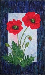 Poppy Quilt Pattern - The Virginia Quilter | Quiltscapes - Flowers ... & Poppy Quilt Pattern - The Virginia Quilter. Flower Applique ... Adamdwight.com