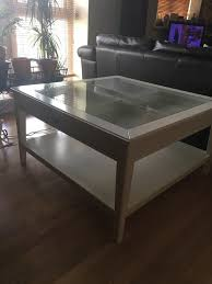 ikea white glass top coffee table with