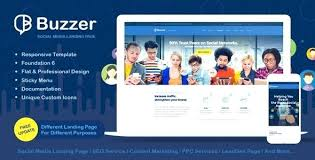 Social Networking Template Website Media House Web Query Responsive