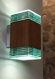 beacon brightness lines entrance yard designer turquiose blue softness led exterior wall lights square rectangular structure