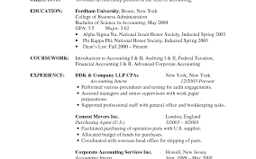 Entrancing Example Resume Accounting Clerk Example Resume