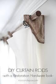 diy curtain rods restoration hardware inspired