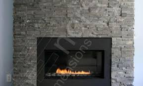 diy stacked stone fireplace in philadelphia made with indoor stone fireplace kit
