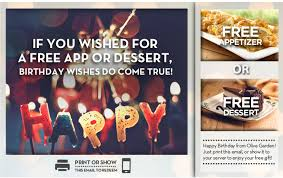 if you wished for a free app or dessert birthday wishes do come true