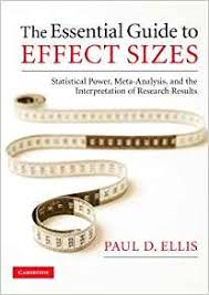 cohen s d effect size chart amazon com the essential guide to effect sizes statistical power