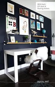above desk shelving unit blue wall tween make over reveal desk and shelves hack desk shelving