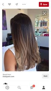 Sombre Hair Balayage Brunette Hair Color
