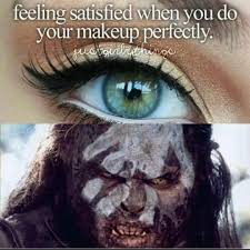 feeling satisfied when you do your makeup perfectly
