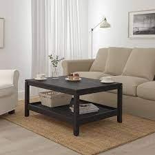 havsta coffee table dark brown 100x75