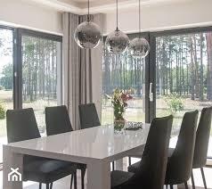 aranżacje wnętrz jadalnia dom 220m2 Średnia otwarta jadalnia w salonie styl nowoczesny