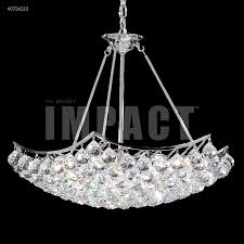 james r moder 40736s22 cascade 9 light crystal chandelier in silver with imperial crystal clear