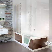 new free standing bathtub shower combination by duscholux ag