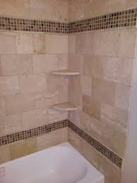 unusual tub surround tile pattern bathroom with bathtub