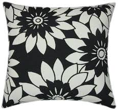 fl black white sofa pillow