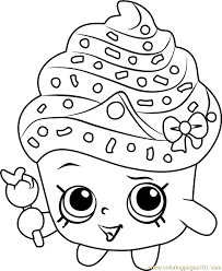 Small Picture Cupcake Queen Shopkins Coloring Page Free Shopkins Coloring