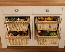 pull out wicker storage baskets for kitchen cabinet imanisr com