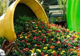 Small Picture Make a Spilled Flower Pot Garden Design Idea