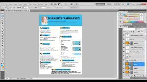 Design Resume Using Adobe Photoshop Cs5 Tutorial Youtube