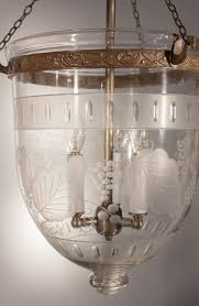 bell jar lighting fixtures. rare pair of etched and frosted antique bell jar lanterns lighting fixtures