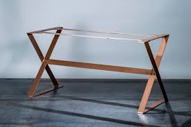 copper dining table base  full unit  copper table legs  modern