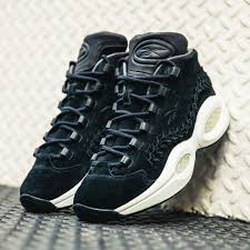 reebok question black. reebok question mid hof shoes (men basketball) - black basketball r17l8364