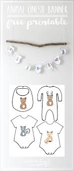 Baby Shower Banner We Lived Happily Ever Afterfree Forest Animal Onesie Baby Shower
