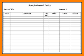 Account Ledger Printable Accounting Ledgers Templates Printable Accounting Ledger General