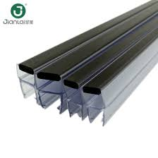 pvc and magnetic commercial glass door water sealing strip