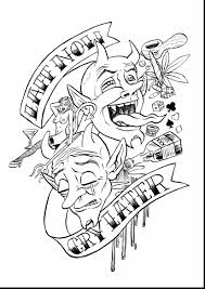 Small Picture awesome laugh now cry later tattoo design with tattoo coloring