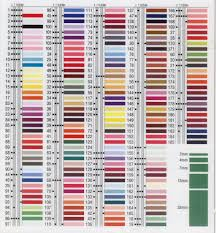 River Silks Color Chart Yli Silk Ribbon Color Chart Www Bedowntowndaytona Com