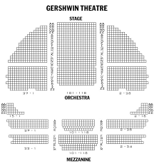 Gershwin Theater Seating Chart With Seat Numbers Seating Chart For Gershwin Theater Wicked Nyc Seating Chart
