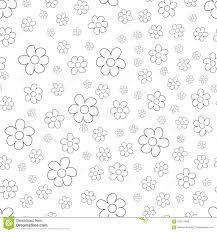 Zwart Wit Ditsy Patroon Met Kleine Bloemen Voor Naadloze Textuur