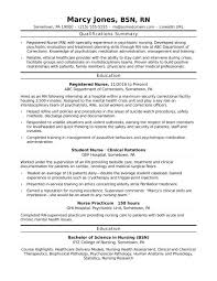 Resume Nurse Example Resume Nursing Sample Resume 20
