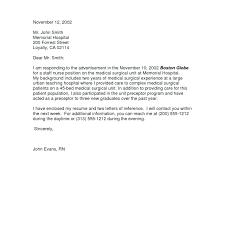 Cover Letter For Nursing Resume New Grad Nursing Resume Cover Letter