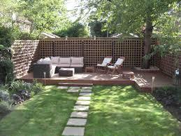 garden landscaping ideas. Outdoor:Small Backyard Landscaping Ideas With Nice Sofa Seatings Small Garden