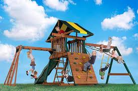 castle rock swing set by backyard play systems