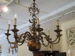 a late 19th century french chandelier made to house candles