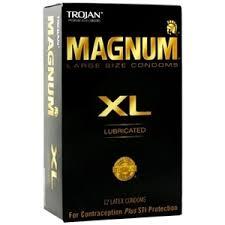 magnum xl size trojan magnum xl lubricated large size latex condoms