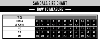 Size Guide For Apparel Swimwear Underwear And Sandals 69slam