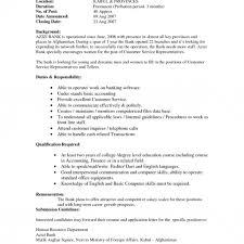 Resume For Teller Position Salazarstaging Com